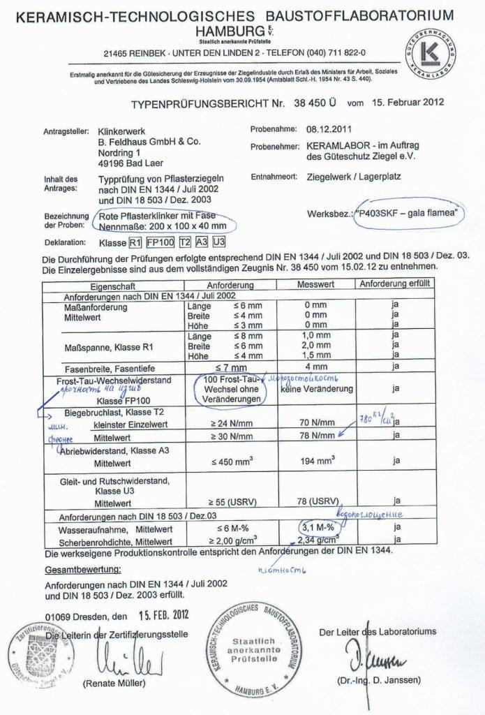 Брусчатка Feldhaus Klinker  SKF 200х100х40 мм